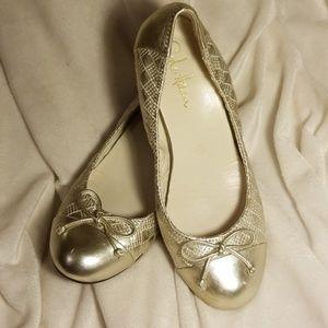 Cole Haan Nike Air Light Gold Wedge dress shoe